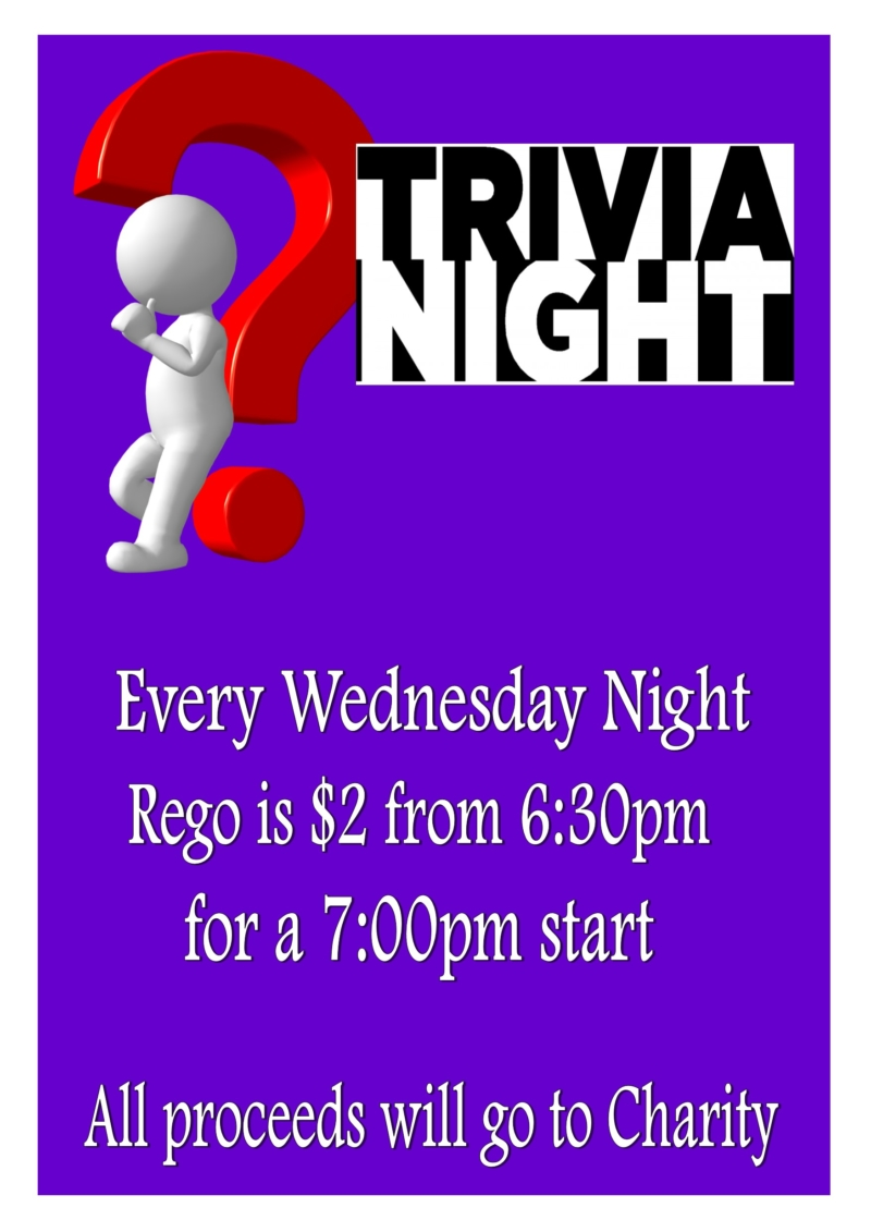 Sussex Bowlo - Whats On? Trivia Night - Sussex Inlet